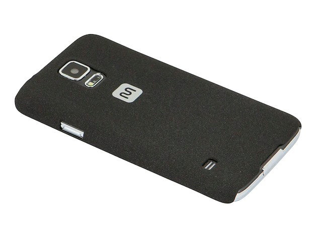 Monoprice - PC Case with Soft Sand Finish for Samsung Galaxy S®5 - Pumice Black