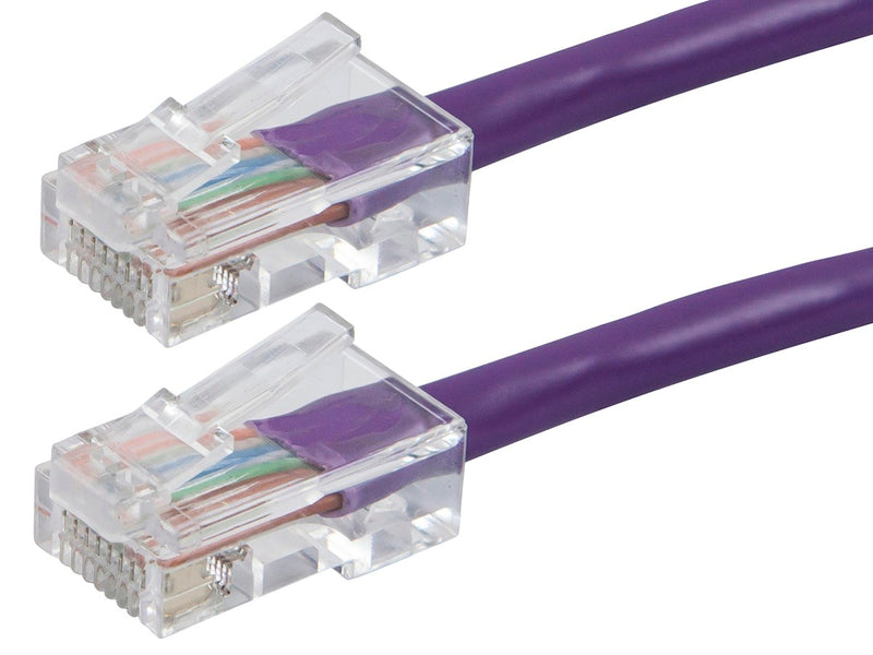 Monoprice - ZEROboot Series Cat5e 24AWG UTP Ethernet Network Patch Cable, 3ft Purple
