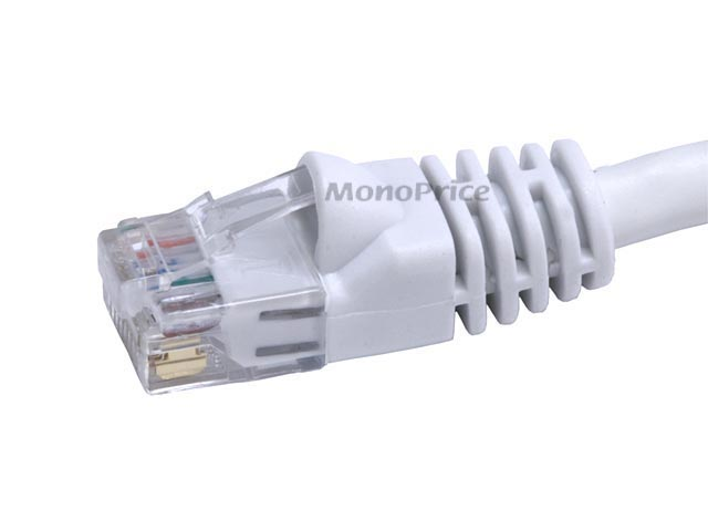 Monoprice 25FT 24AWG Cat6 550MHz UTP Ethernet Bare Copper Network Cable - White