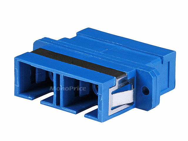 Monoprice Multimode SC/SC Duplex Fiber Optic Adaptor, Plastic Body