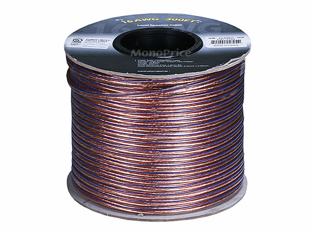 Monoprice Choice Series 16AWG Oxygen-Free Pure Bare Copper Speaker Wire, 300ft