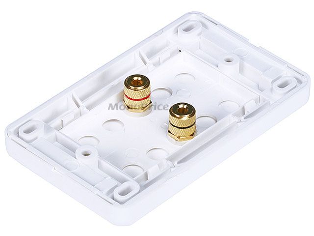 Monoprice High Quality Banana Binding Post Wall Plate for 1 Speaker - Coupler Type