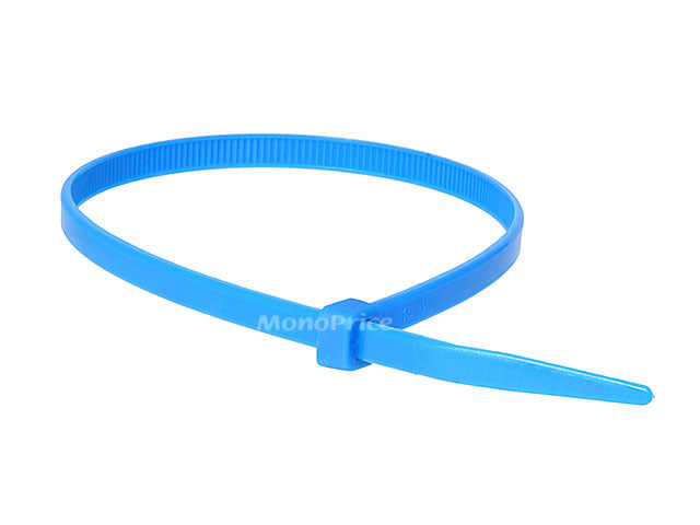 Monoprice Cable Tie 11 inch 50LBS, 100pcs/Pack - Blue (Default)