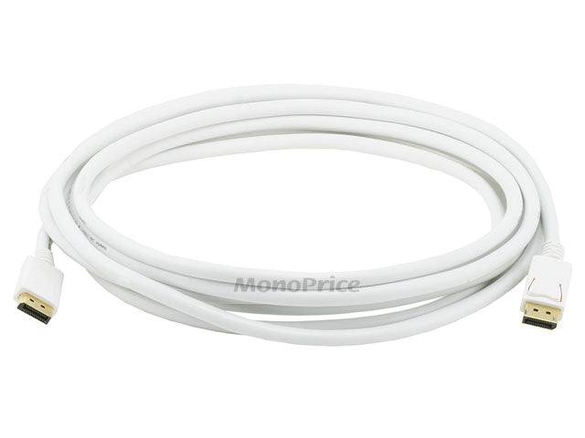Monoprice 15ft 28AWG DisplayPort Cable - White