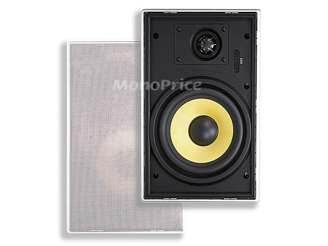 Monoprice 6-1/2 Inches Easy-Install In-Wall Speaker (Pair)