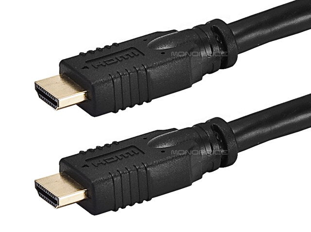 Monoprice 25ft 24AWG CL2 Standard HDMI® Cable With Ethernet - Black
