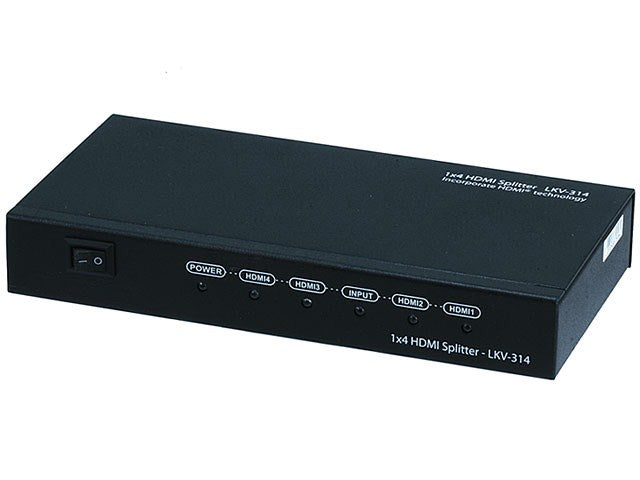 Monoprice - 1x4 HDMI® Splitter w/ 3D support