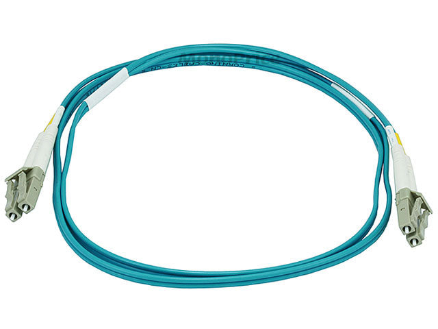 Monoprice 10Gb Fiber Optic Cable, LC/LC, Multi Mode, Duplex - 1 Meter (50/125 Type) - Aqua