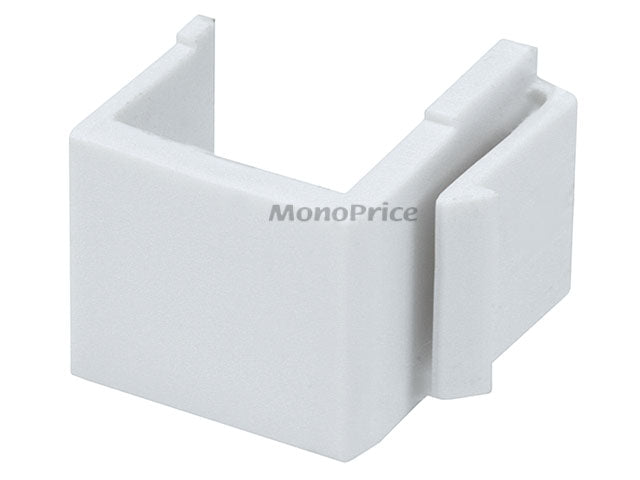 Monoprice - Blank Insert For Wall Plate - 10pcs/Pack (White)