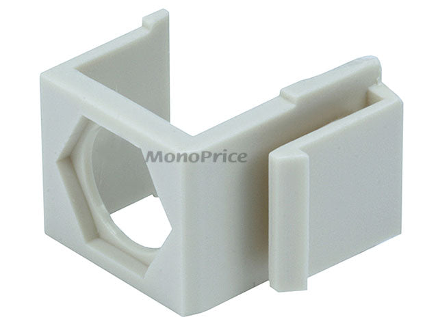 Monoprice Blank Insert for F type connector - 10pcs/Pack (Ivory)