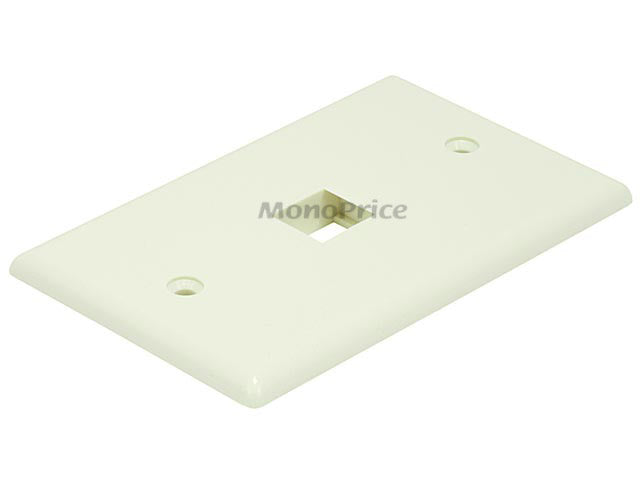 Monoprice Wall Plate for Keystone, 1 Hole - Ivory