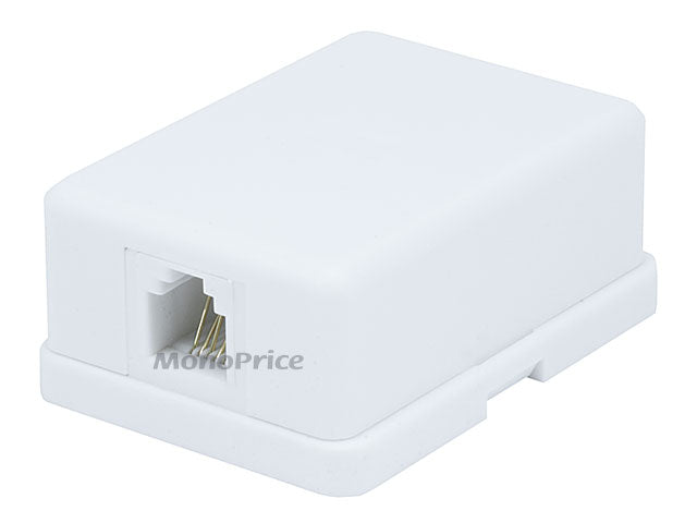 Monoprice - Surface Mount 6P6C - 1 port (Compact Style)