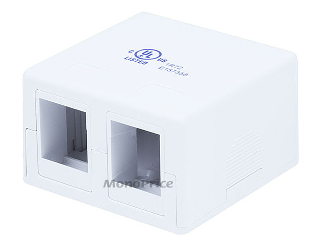 Monoprice Surface Mount Box 2 port