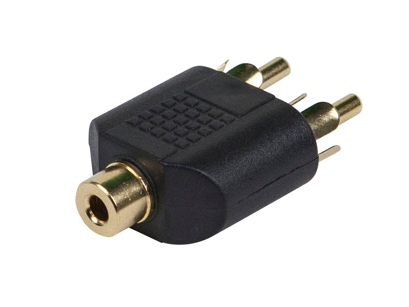 Monoprice - 3.5mm Stereo Jack to 2 RCA Plug Splitter Adaptor - Gold Plated