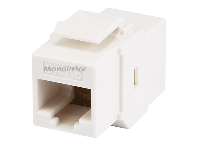 Monoprice Cat6 Inline Coupler Type Keystone Jack - White