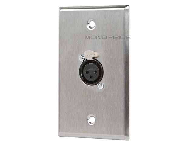 Monoprice XLR Female 3 Pin One Port Zinc Alloy Wall Plate