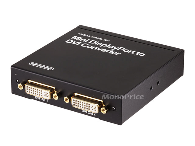 Monoprice - Mini DisplayPort to DVI (2x DVI Output) Converter