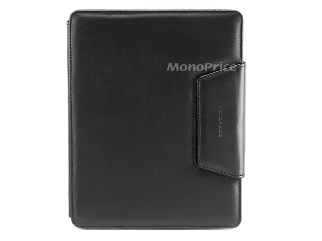 Monoprice Synthetic Leather Notebook Case for iPad 2 and iPad 3 - Black