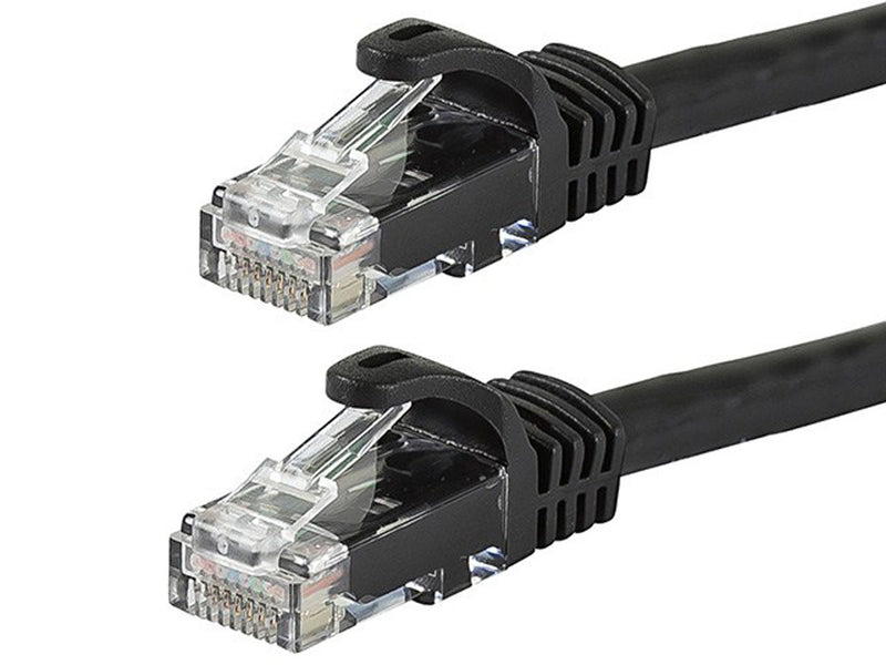 FLEXboot Series Cat6 24AWG UTP Ethernet Network Patch Cable, 30ft Black