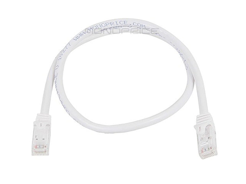 Monoprice FLEXboot Series Cat6 24AWG UTP Ethernet Network Patch Cable, 2ft White