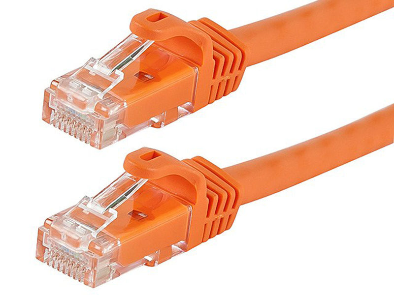 Monoprice 0.5FT FLEXboot Series Cat6 24AWG UTP Ethernet Network Patch Cable, 6-inch Orange