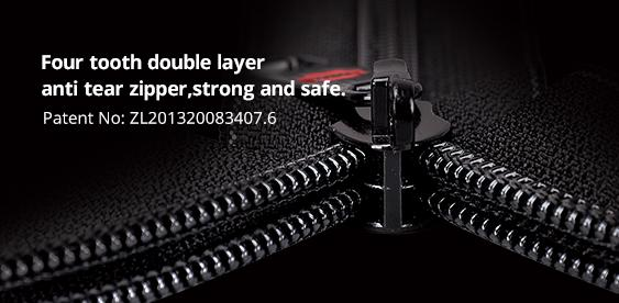 Double-layer anti-theft and explosion-proof zipper display