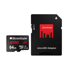 Strontium Nitro A1 64GB Micro SDHC Memory Card for DashCams