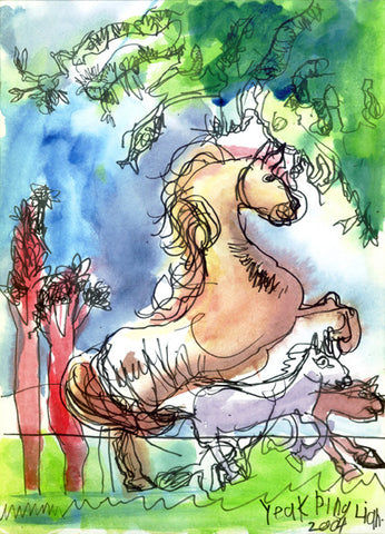 04305 Horses - Painted at age 10 (Limited Edition of 100)