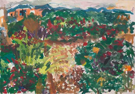 04519 Beautiful Garden III - Painted at age 10