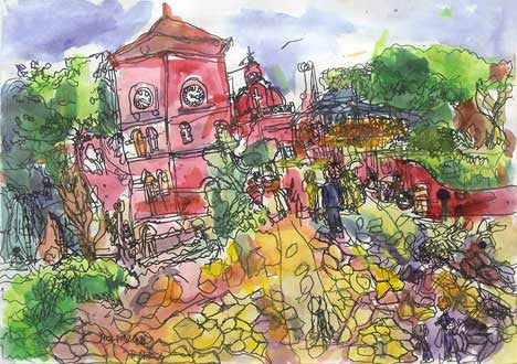 "05105 Christ Church Malacca III - Painted at age 11-Print on A3 Paper - 11.6""x 16.5"" ( Limited Edition)"