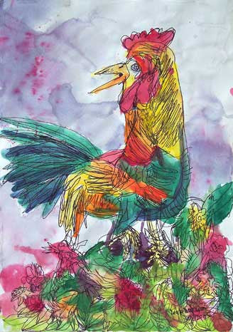 05406 Rooster - Painted at age 11