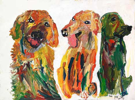 05411 My Dog II - Painted at age 11