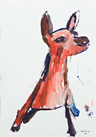 "05424 Dog V - Painted at age 11 - Print on 24"" Canvas - 16.5""x 23.6"" (Limited Edition)"