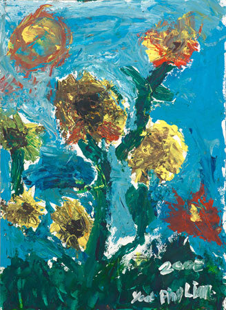 05504 Sunflowers I - Painted at age 11