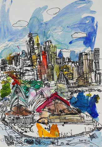 06001 Sydney Opera House I - Painted at age 12