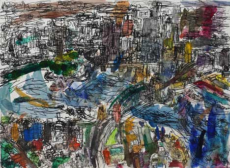 06006 Sydney Harbour, Opera House, Harbour Bridge & City Centre - Painted at age 12
