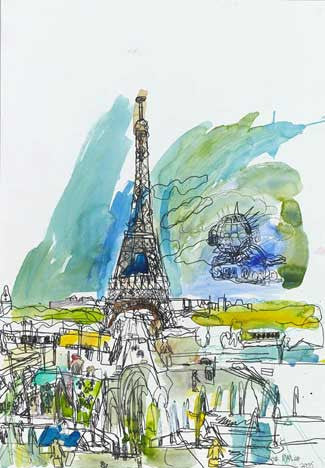06018 Eiffel Tower - Painted at age 12