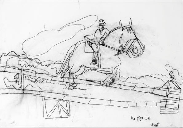 Original 06301 Show Jumping - Painted in 2006 at the age of  12 - 20.4x29.1 inches