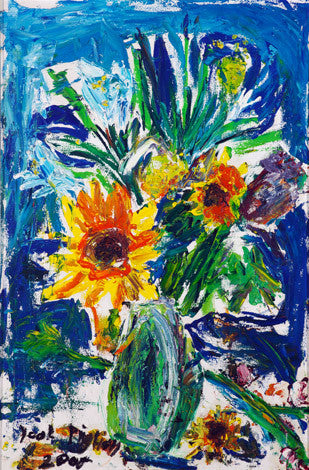 "06504 Sunflowers VII - Painted at age 12 -Print on A3 Size Paper - 11.6""x 16.5"""