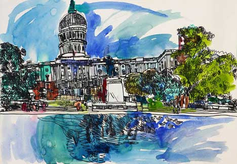 07001 US Capitol Building VI - Painted at age 13