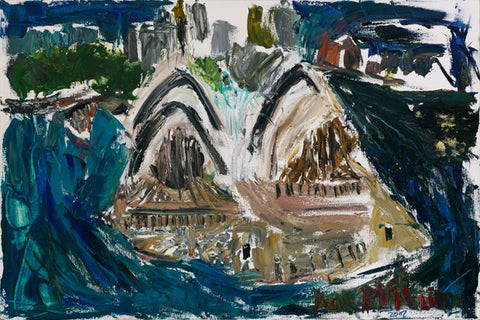 "07009 Sydney Opera House - Painted at age 16 - Print on A2(16.5x 23.3"") Fine Art Paper"