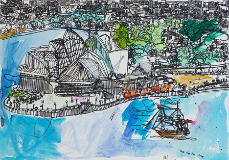 08001 Sydney Opera House - Painted at age 14