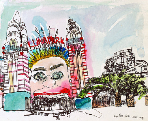 08004 Luna Park, Sydney - Painted at age 14