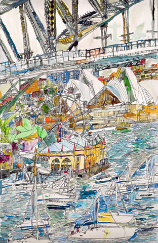 11005 Sydney Opera House , Harbour Bridage & Lunar Park - Painted in 2011