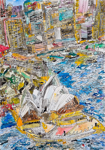 13001 Sydney Opera House - Painted in 2013