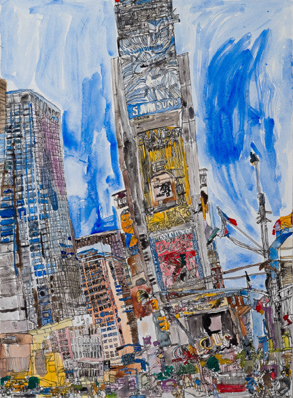 "14003 New York - Painted in 2014 -Print on A3 Size Paper - 11.6""x 16.5"""