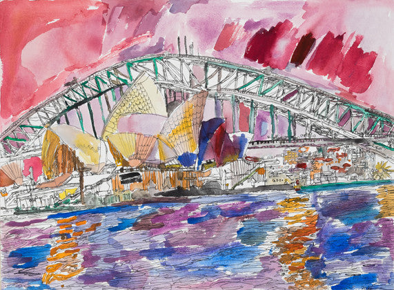 14008 Sydney Opera House and Harbour Bridge - Painted in 2014