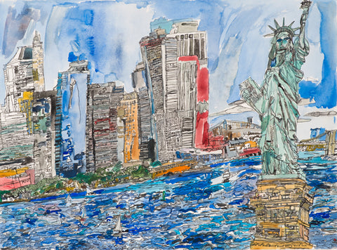 Original 15001 New York - Painted in 2015 - 22.0x29.9 inches