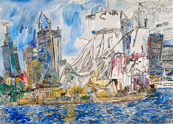 Original 15003 Sydney Opera House - Painted in 2015 - 19.6x27.5 inches