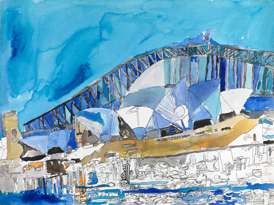 16003 Sydney Opera House  and Harbour Bridge- Painted in 2016